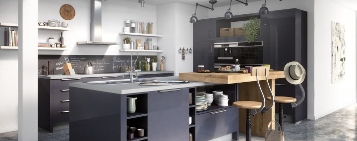 r ussir l am nagement d une cuisine dans un loft. Black Bedroom Furniture Sets. Home Design Ideas